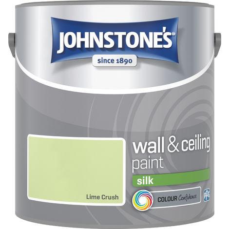 Johnstones Vinyl Silk Emulsion Lime Crush 2.5 Litre