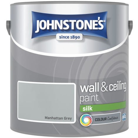 Johnstones Vinyl Silk Emulsion Manhattan Grey 2.5 Litre