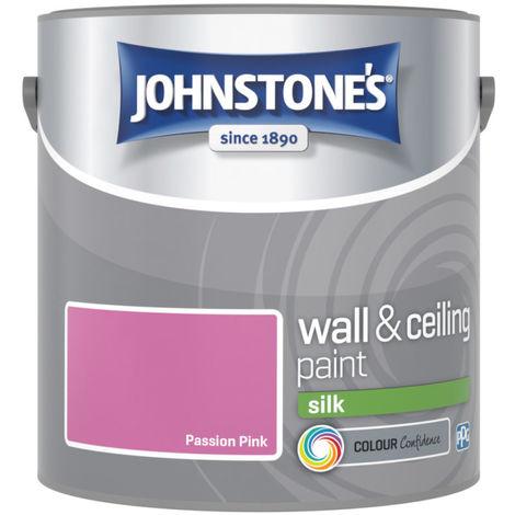 Johnstones Vinyl Silk Emulsion Passion Pink 2.5 Litre