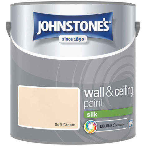 Johnstones Vinyl Silk Emulsion Soft Cream 2.5 Litre