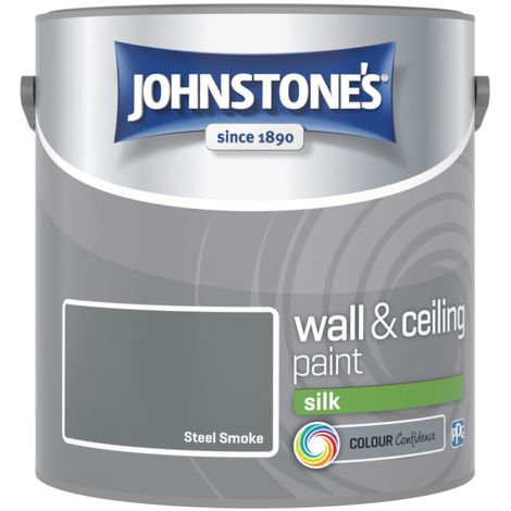 Johnstones Vinyl Silk Emulsion Steel Smoke 2.5 Litre