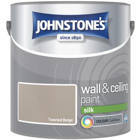 Johnstones Vinyl Silk Emulsion Toasted Beige 2.5 Litre
