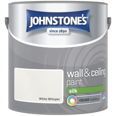 Johnstones Vinyl Silk Emulsion White Whisper 2.5 Litre