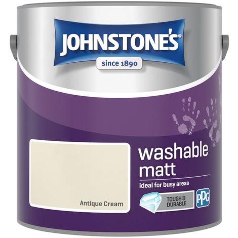 Johnstones Washable Matt Emulsion Antique Cream 2.5 Litre