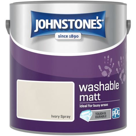 Johnstones Washable Matt Emulsion Ivory Spray 2.5 Litre