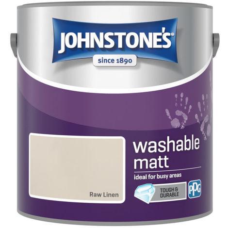 Johnstones Washable Matt Emulsion Raw Linen 2.5 Litre