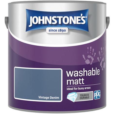 Johnstones Washable Matt Emulsion Vintage Denim 2.5 Litre