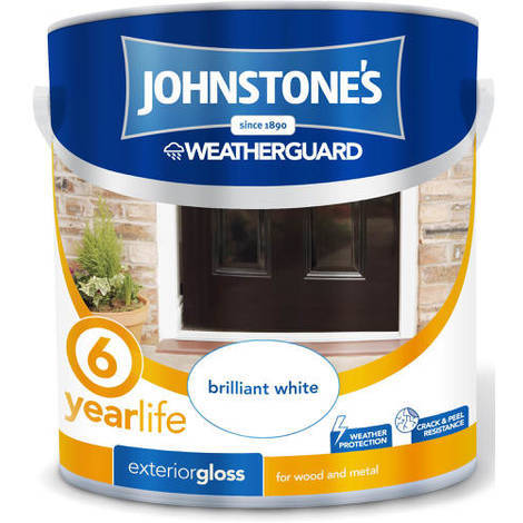 Johnstones Weatherguard Exterior Gloss Brilliant White 2.5 Litre