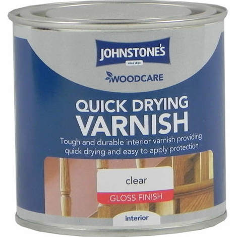 Johnstones Woodcare Quick Dry Varnish Clear Gloss 250ml