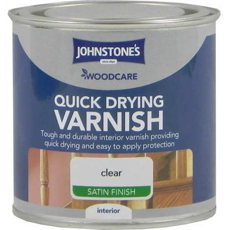 Johnstones Woodcare Quick Dry Varnish Clear Satin 250ml