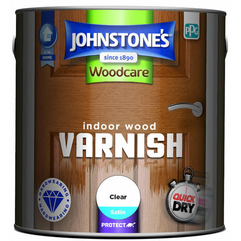 Johnstones Woodcare Quick Dry Varnish Clear Satin 750ml