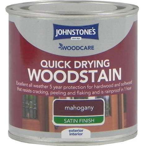 Johnstones Woodcare Quick Dry Woodstain Red Mahogany 250ml