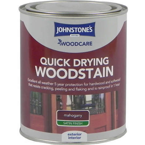 Johnstones Woodcare Quick Dry Woodstain Red Mahogany 750ml