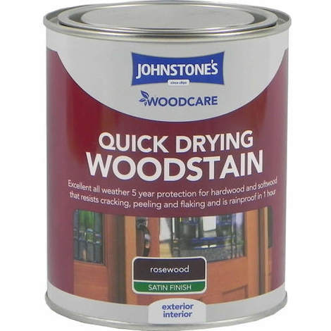 Johnstones Woodcare Quick Dry Woodstain Rosewood 750ml