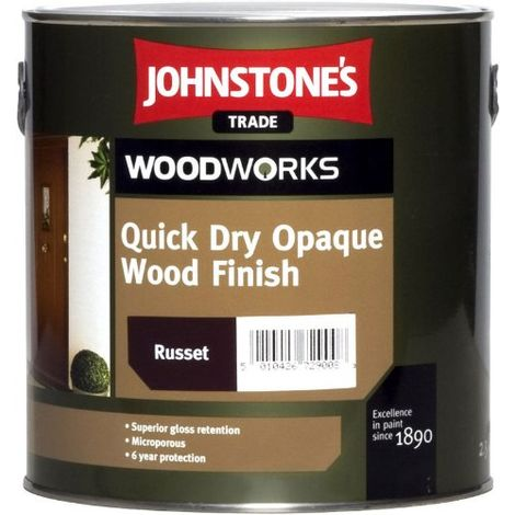 Johnstones Woodworks Quick Dry Opaque Wood Finish Russet - 2.5 Litres