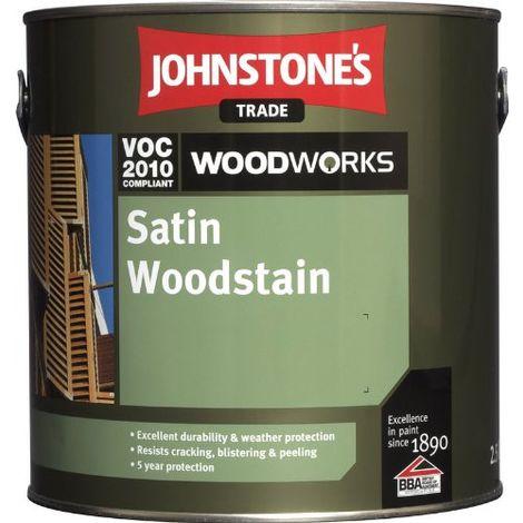 Johnstones Woodworks Satin Woodstain Jacob Oak - 2.5 Litres