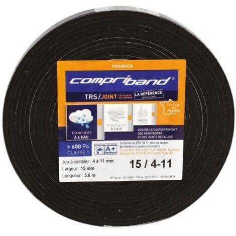 Joint adhésif Compriband TRS PC, largeur 10 mm, plage utilisation 1-3 mm, longueur 12,5 m