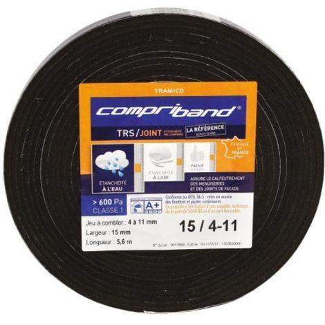 Joint adhésif Compriband TRS PC, largeur 12 mm, plage utilisation 4-11 mm, longueur 5,6 m