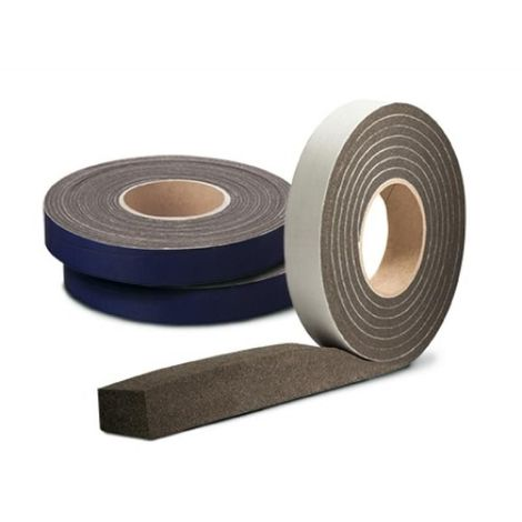 Joint adhésif Compriband TRS PC, largeur 15 mm, plage utilisation 2-5 mm, carton de 4 rouleaux de 10 m
