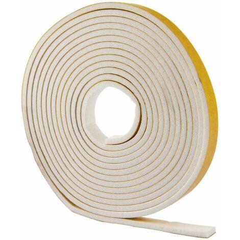 Joint adhésif PVC blanc, profil 'I' 6M