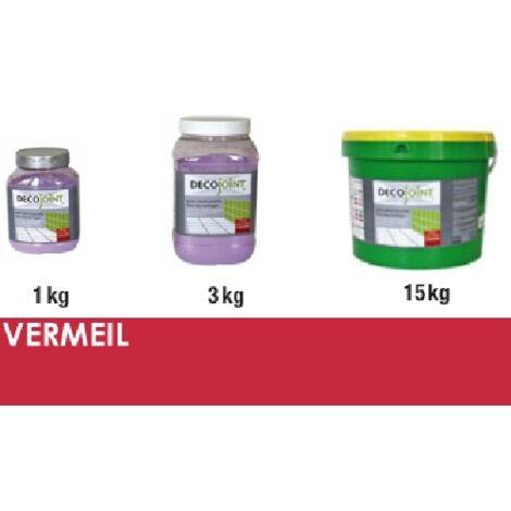 Joint carrelage rouge vermeil | 3kg (pot)
