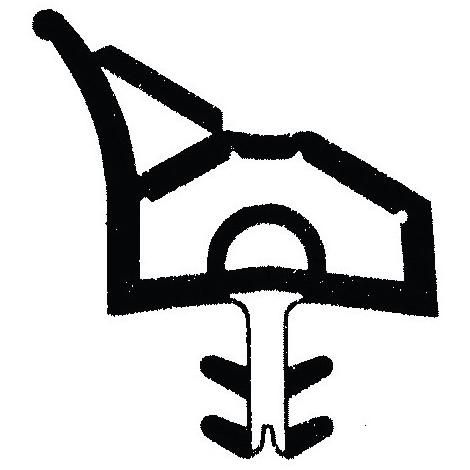 Joint de porte intérieure L5011noir (Par 100)