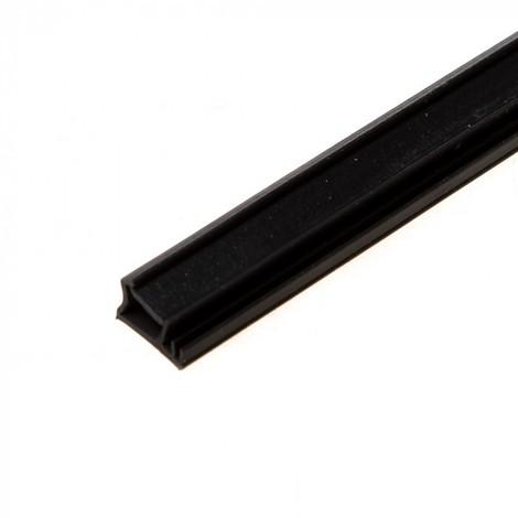Joint de recouvrement KISO - rainure 3mm - Feuillure 10mm - 200M - SP 103a Noir