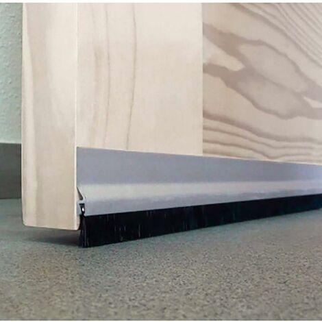 Joint d'étanchéité sous la porte Vis Fringes 125Cm Aluminium Argent Burcasa 127440