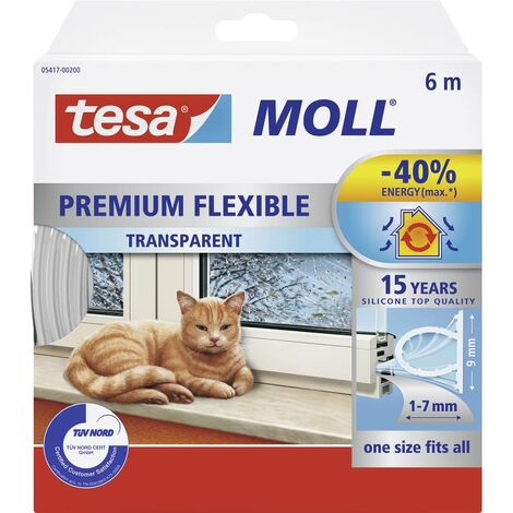 Joint en bande tesa 05417-00200-02 tesaMOLL® transparent 1 rouleau(x)