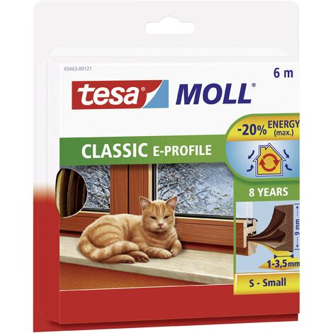 Joint en bande tesamoll® tesa 05463-00120-00 blanc (L x l) 6 m x 9 mm caoutchouc 1 rouleau(x)