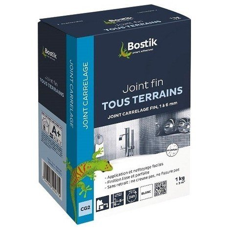 Joint Fin Blanc Poudre 1 à 6mm 1kg - BOSTIK