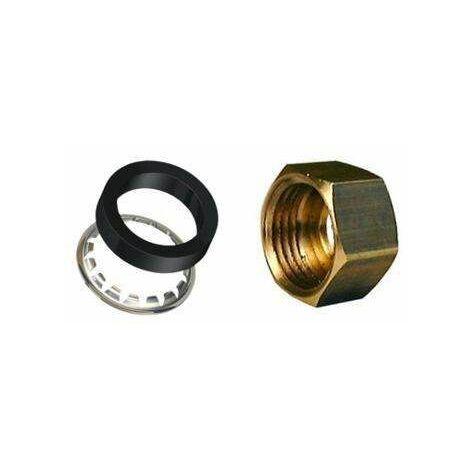 Joint gripp + écrou 20x27 pour cuivre D.16mm - 10 pièces.