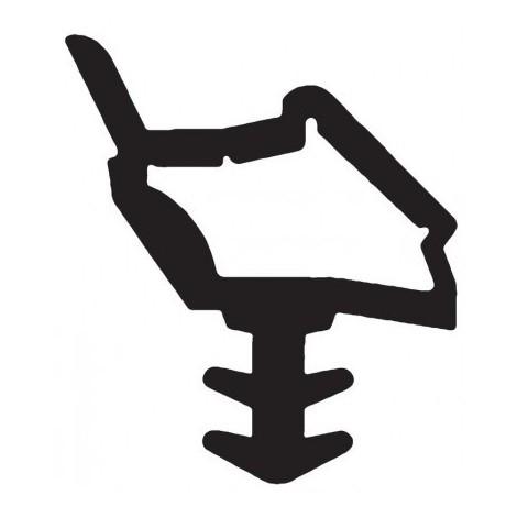 Joint pour portes intérieures KISO - rainure 4mm - Rouleau de 18M - M 7210 BA Transparent