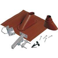 Joint pour tuiles A.S. SAT 44300 Adapté pour diam. de mât (max.): 60 mm rouge brique