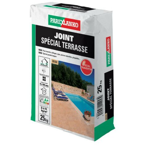 "main image of ""Joint spécial terrasse PAREXLANKO - Beige - 25 kg - 03290 - Beige"""