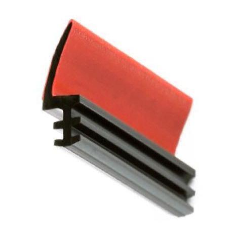 Joint sur dormant en PVC - LD 411 - pour rainure de 4 mm - finition noir - 250 m