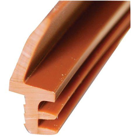 Joint sur dormant L411 KISO - rainure 4mm H.11mm - rouleau 250m Brun - L411PVC