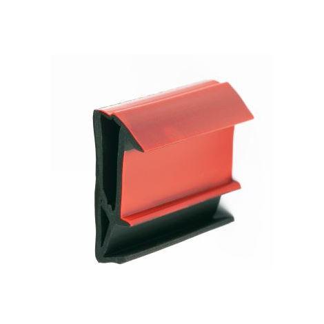 Joint sur ouvrant SV718F Noir double chambre + film protection KISO L.4 x H.18 mm - Rouleau 150 m - SV718FNOIR