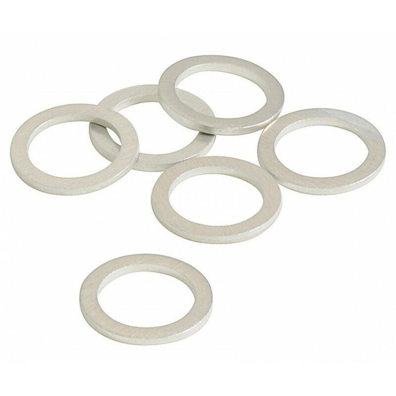 Joints vidange X 6 en aluminium, diamètre 12 x 17 x 1,5 mm - Autobest