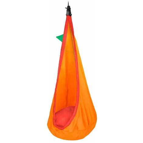 Joki Foxy - Nid-hamac enfant en coton bio avec fixation - Jaune / orange