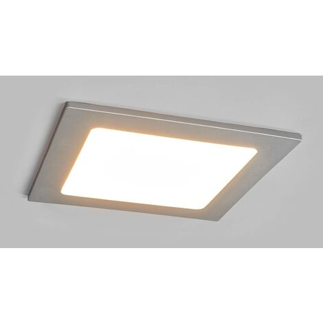 Joki LED downlight silver 3,000K angular 16.5cm