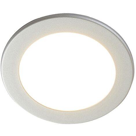 Joki LED downlight silver 3,000K round 17cm