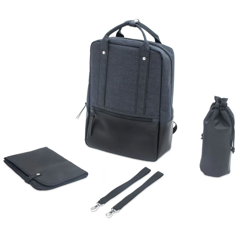 Image of Diaper Backpack Sascha Dark Grey - Jollein