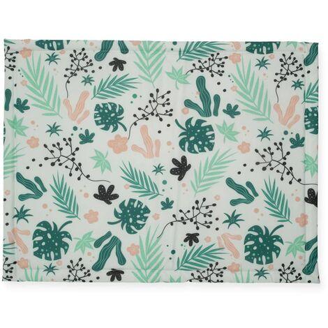 Jollein Playpen Mat Leaves 75x95 cm Green