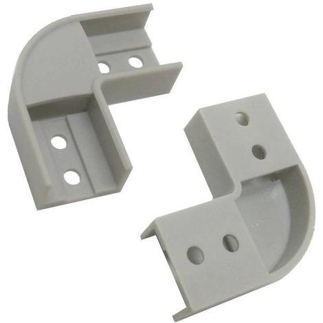 Jonction 90º pour profilé extrudé d'aluminium de surface 17X8MM (1U)
