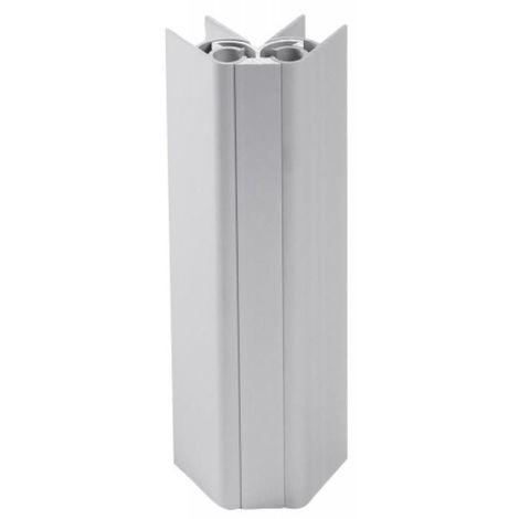 Jonction d'angle 30 - 180° pour plinthe aluminium hauteur 100 mm finition anodisé