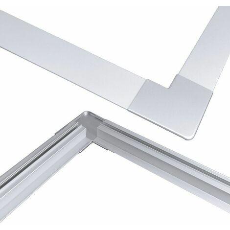 Jonction d'angle à plat pour profilé LED aluminium corniche 2 directions M04
