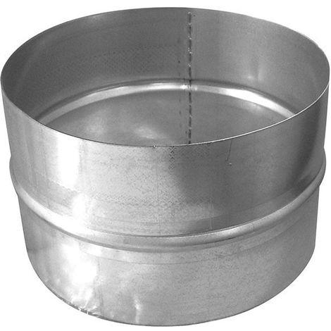 Jonction droite pour gaine 200 mm en acier conduit ventilation