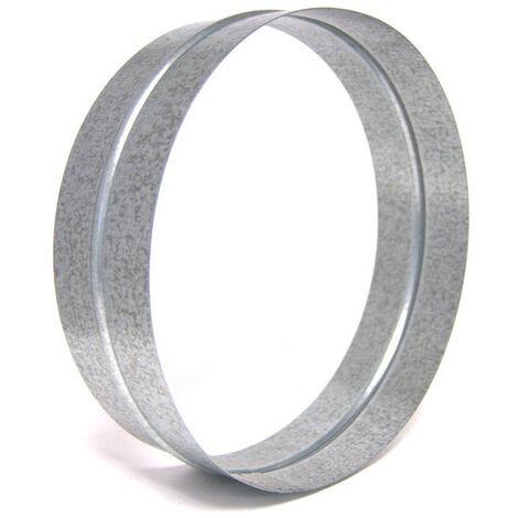 Jonction droite pour gaine 250 mm en métal - conduit ventilation