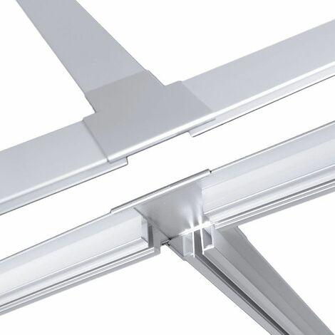 Jonction en T plat pour profilé LED aluminium corniche 2 directions M04